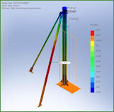 Drill ship Flare arm support structure FEA analysis