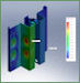 FEA of door to side structure interface.