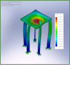FEA of test bench structure.